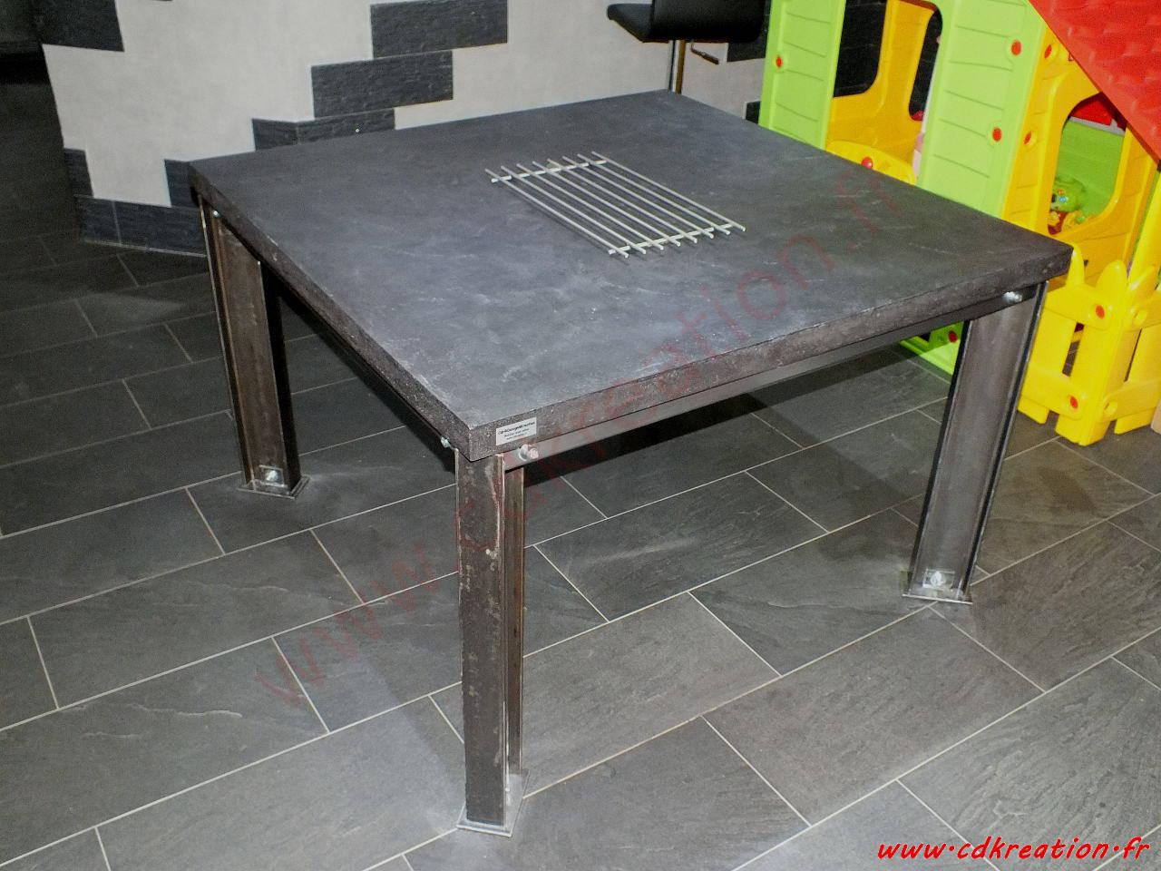 cdrikdesign kreation meuble de design au style industriel sur mesure en beton et acier. Black Bedroom Furniture Sets. Home Design Ideas